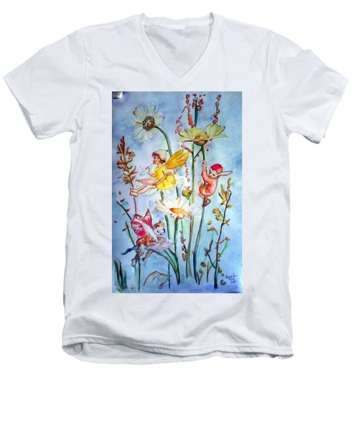 Fairy Babies Men's V-Neck T-Shirt