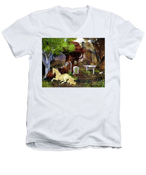 Fairy Retreat Men's V-Neck T-Shirt
