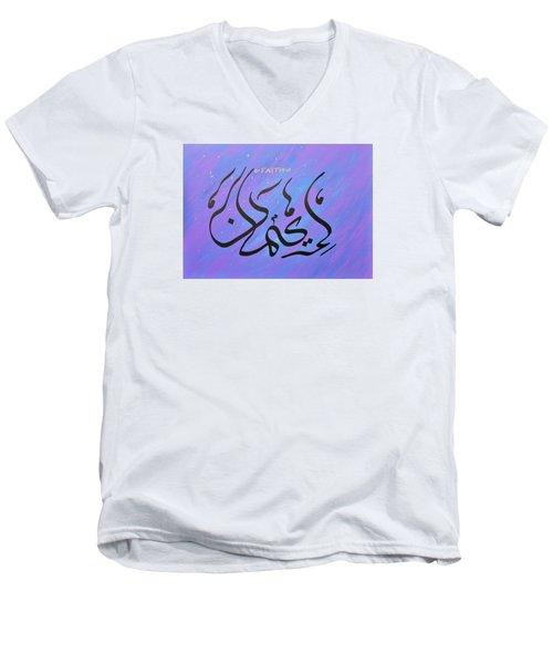 Faith Vibrant Men's V-Neck T-Shirt by Faraz Khan