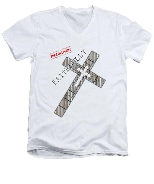 Faithfully Men's V-Neck T-Shirt