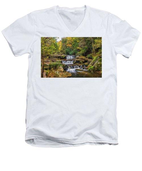 Fall At Bark Camp Creek Men's V-Neck T-Shirt