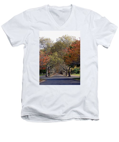 Fall At Corona Park Men's V-Neck T-Shirt
