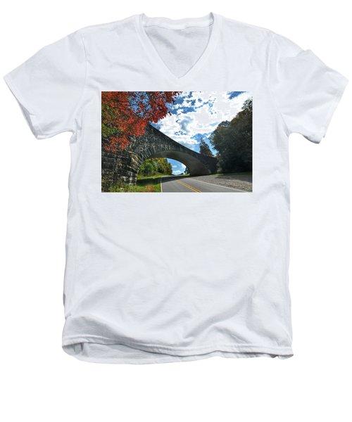 Fall Bridge Men's V-Neck T-Shirt