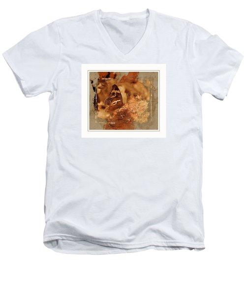 Fall Butterfly Men's V-Neck T-Shirt