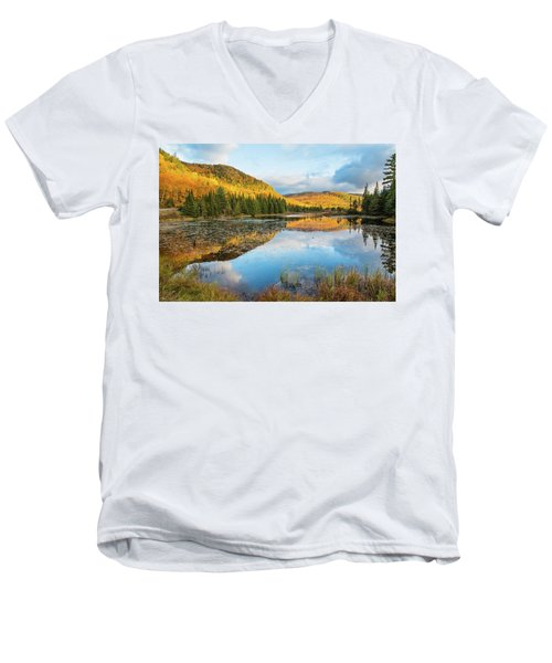 Fall By The Lake Men's V-Neck T-Shirt