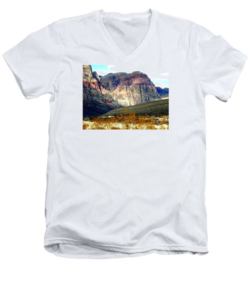 Fall Color In The Winter Season Men's V-Neck T-Shirt