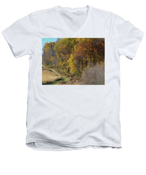 Fall Colors As Oil Men's V-Neck T-Shirt