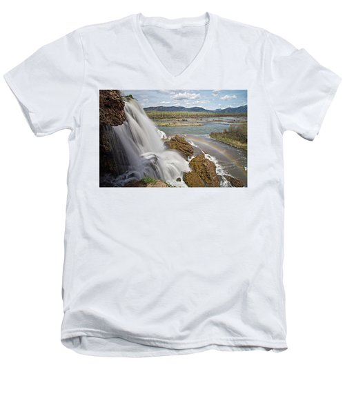 Men's V-Neck T-Shirt featuring the photograph Fall Creek Falls by Wesley Aston