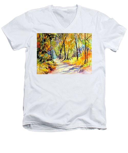 Fall Dazzle, Tennessee Men's V-Neck T-Shirt by Rae Andrews