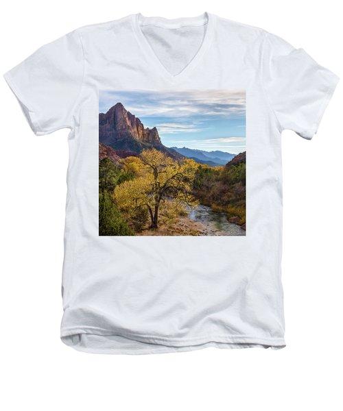 Fall Evening At Zion Men's V-Neck T-Shirt