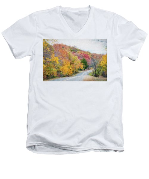 Fall In Southern Oklahoma Men's V-Neck T-Shirt
