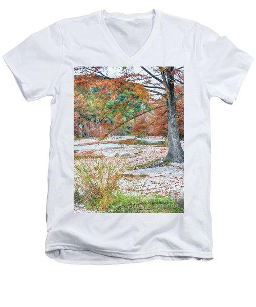 Fall In Texas Hills Men's V-Neck T-Shirt
