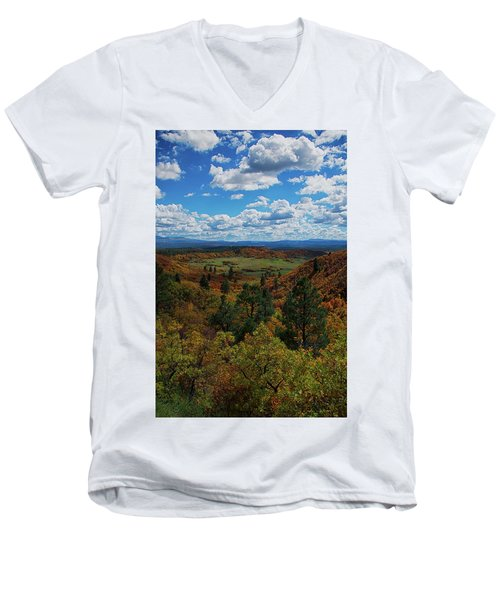 Fall On Four Mile Road Men's V-Neck T-Shirt by Jason Coward