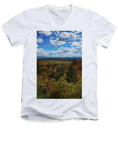 Fall On Four Mile Road Men's V-Neck T-Shirt