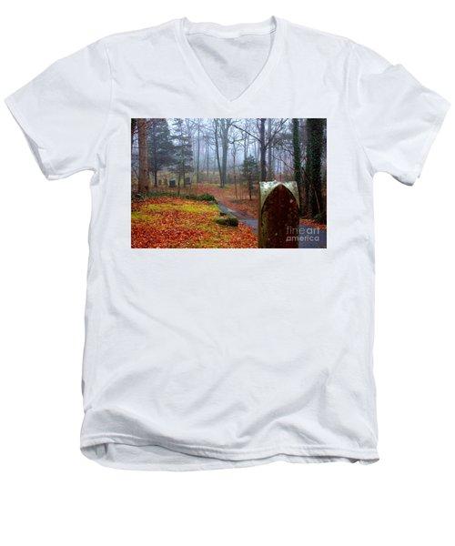 Fall Men's V-Neck T-Shirt by Steven Macanka