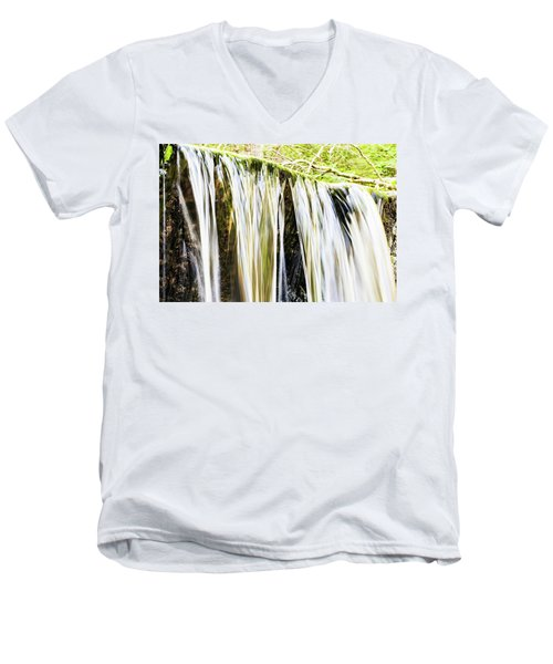 Falling Water Mirror Men's V-Neck T-Shirt