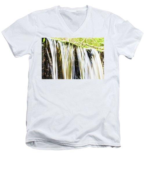 Falling Water Mirror Men's V-Neck T-Shirt