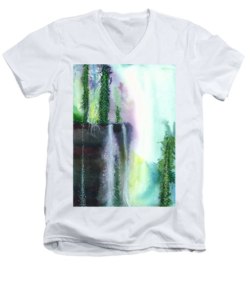 Falling Waters 1 Men's V-Neck T-Shirt