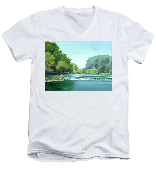 Falls At Estabrook Park Men's V-Neck T-Shirt