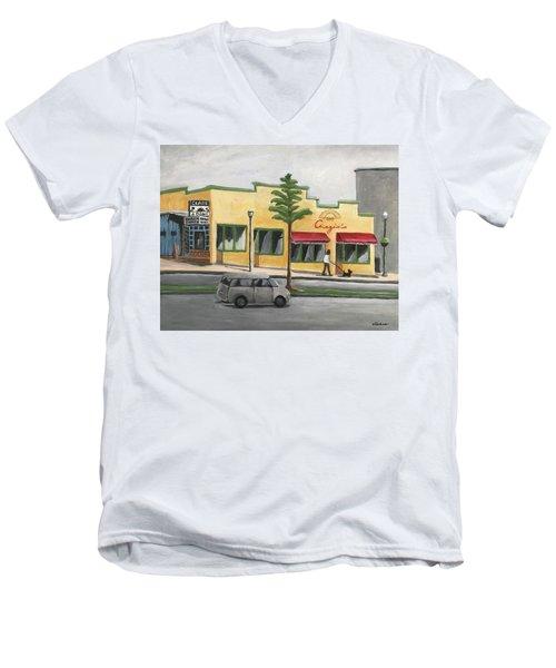 Falls Church Men's V-Neck T-Shirt by Victoria Lakes