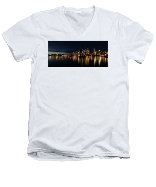 False Creek Reflections Men's V-Neck T-Shirt