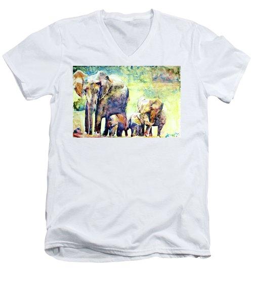 Familial Bonds Men's V-Neck T-Shirt