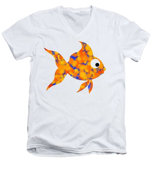 Fancy Goldfish Men's V-Neck T-Shirt by Christina Rollo
