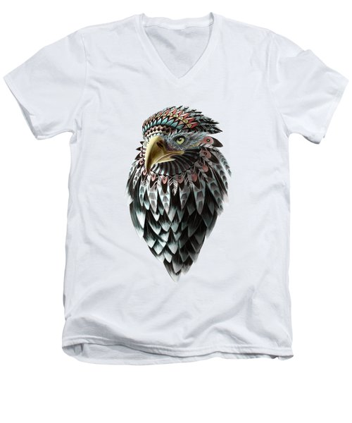 Fantasy Eagle Men's V-Neck T-Shirt by Sassan Filsoof