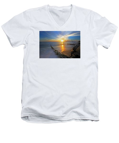 Far Out To Sea Men's V-Neck T-Shirt by James Roemmling