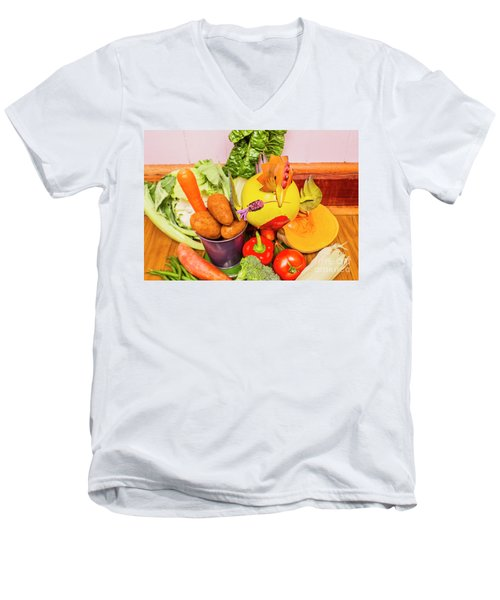 Farm Fresh Produce Men's V-Neck T-Shirt