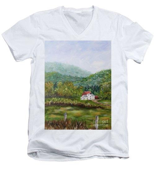 Farm In The Valley Men's V-Neck T-Shirt