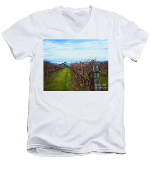 Farm Men's V-Neck T-Shirt by Raymond Earley