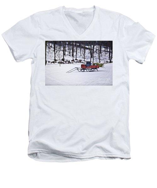 Farm Sleigh Men's V-Neck T-Shirt