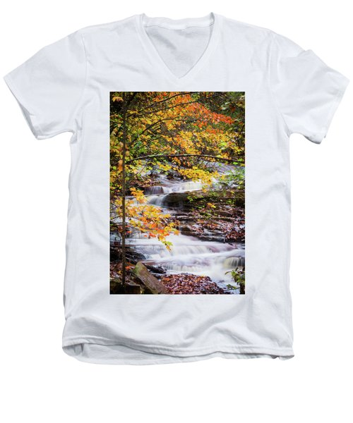 Men's V-Neck T-Shirt featuring the photograph Farmed With Golden Colors by Parker Cunningham