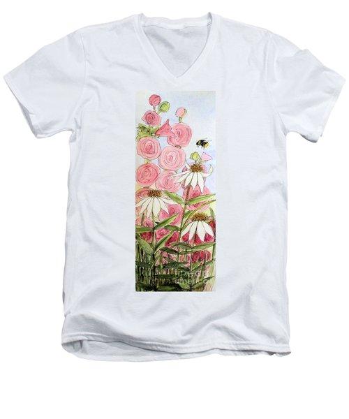 Farmhouse Garden Men's V-Neck T-Shirt by Laurie Rohner