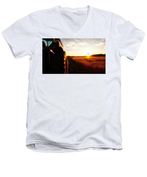 Farming Until Sunset Men's V-Neck T-Shirt
