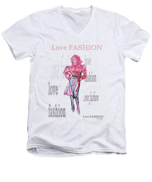 Fashion  Men's V-Neck T-Shirt by Tom Conway