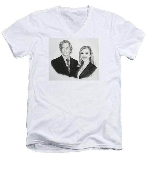 Father And Daughter Men's V-Neck T-Shirt
