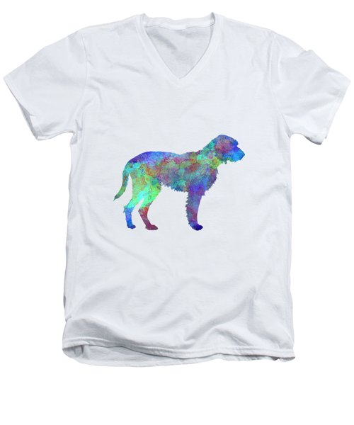 Fawn Brittany Griffon In Watercolor Men's V-Neck T-Shirt