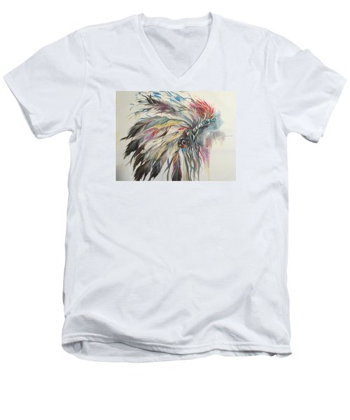 Feather Hawk Men's V-Neck T-Shirt