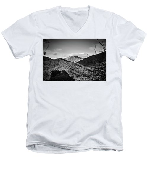 Feathertop Men's V-Neck T-Shirt by Mark Lucey