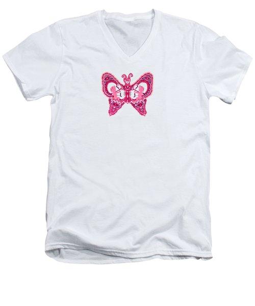February Butterfly Men's V-Neck T-Shirt