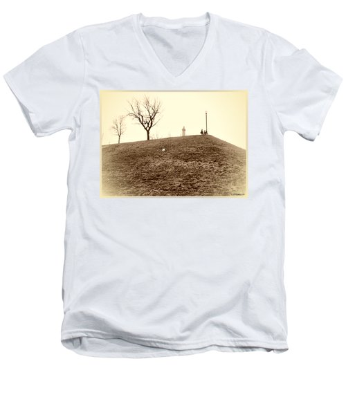 Men's V-Neck T-Shirt featuring the photograph Federal Hill by Brian Wallace