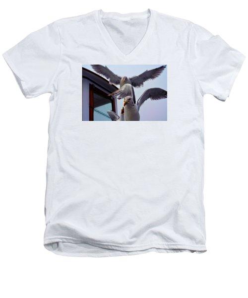 Feeding Frenzy Men's V-Neck T-Shirt