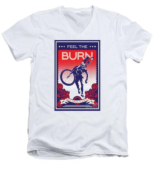 Feel The Burn Men's V-Neck T-Shirt by Sassan Filsoof