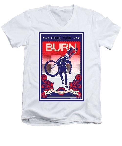 Feel The Burn Men's V-Neck T-Shirt