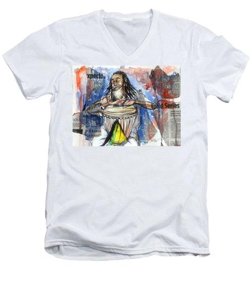 Feel The Rhythm Men's V-Neck T-Shirt