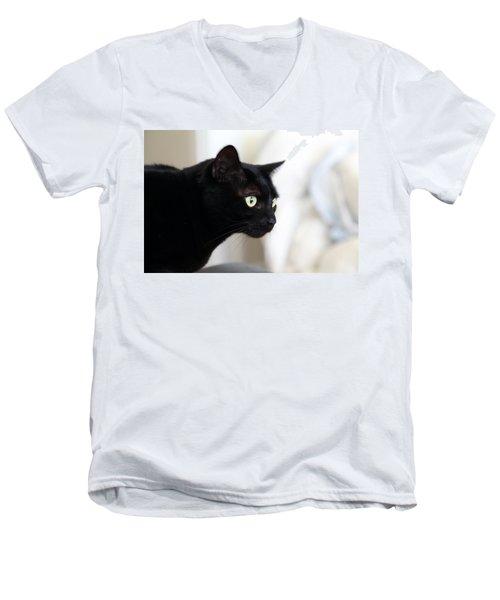 Feline On The Prowl Men's V-Neck T-Shirt