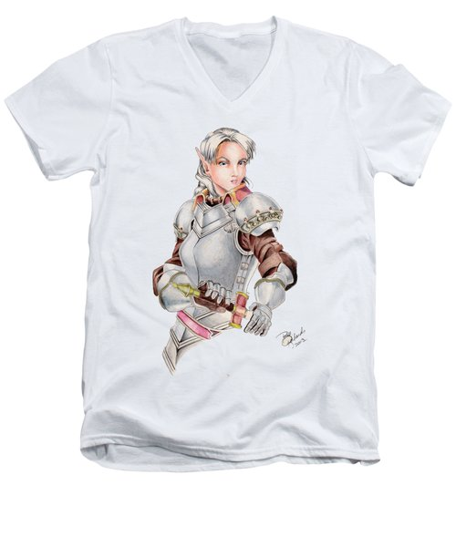 Female Elf Men's V-Neck T-Shirt
