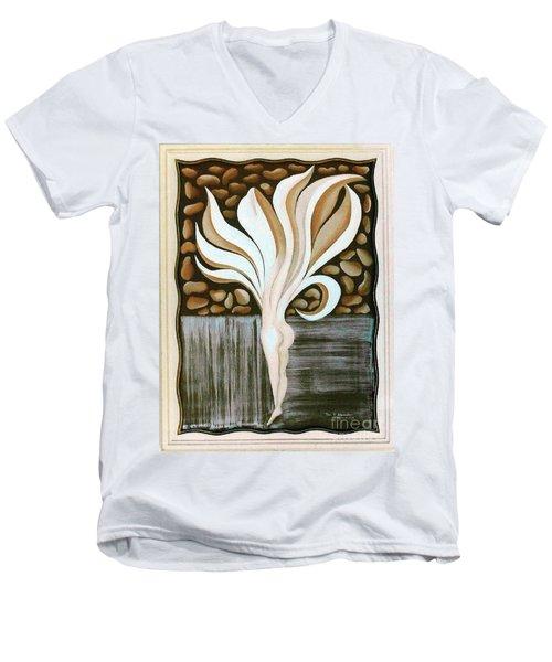 Female Petal Men's V-Neck T-Shirt